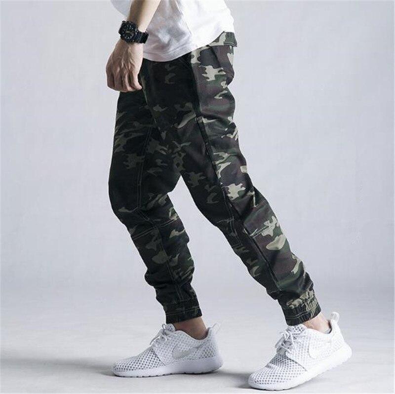 2018 Automne Mens Crayon Harem Pantalon Lâche Confortable Pantalon Hommes Militaire Camouflage Pantalon Cargo pantalons de Survêtement 28-42