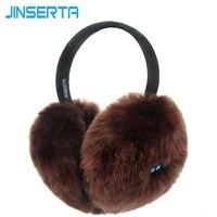 JINSERTA Bezprzewodowy Zestaw Słuchawkowy Bluetooth Słuchawki Muzyki Ciepłe Zimowe Nauszniki dla iphone Samsung mp3 mp4 pokrywa Ucha dla Kobiet i Dziewcząt i mężczyzn