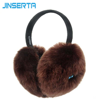 JINSERTA Wireless Bluetooth Headset Headphone Music Warm Winter Earmuff for iphone Samsung mp3 mp4 Ear cover for Women&Girls&Men