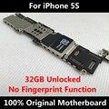 32 gb versión 100% placa base original para iphone 5s desbloqueado placa lógica mainboard con chips 100% de trabajo sin huellas dactilares