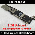 32GB Version 100% Original Motherboard For iPhone 5S Unlocked Mainboard With Chips 100% Working Without Fingerprint  Logic Board