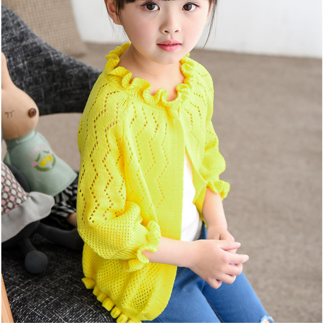 f7192e0f6 Kids clothes Girls sweater Autumn Spring Cardigans Baby Cardigan ...