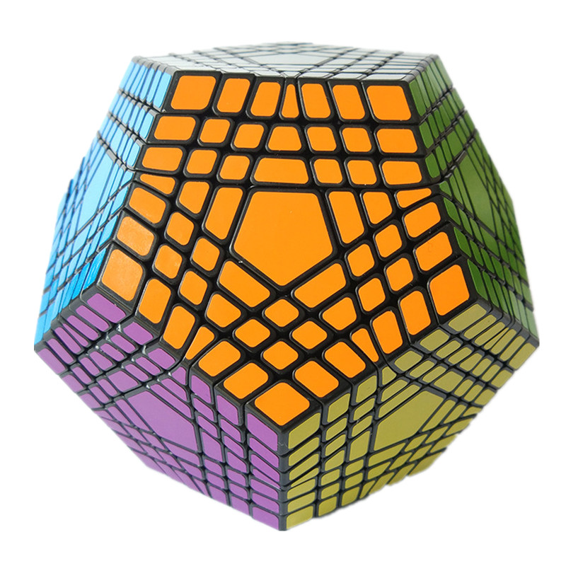 Shengshou Cube 7x7x7 Megaminx Magic Cube Puzzle Learning & Educational Cubo magico Toy As A Gift For Kids Children verrypuzzle clover dodecahedron magic cube speed twisty puzzle megaminx cubes game educational toys for kids children