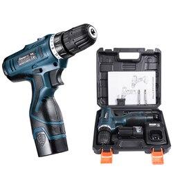 12 v 16.8 v 25 v ajustar a velocidade para casa sem fio broca chave de fenda elétrica bateria extra com caixa de plástico ferramenta elétrica