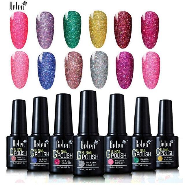 Belen 10ML Neon Color UV Nail Gel Polish Soak Off UV Colorful Nail ...