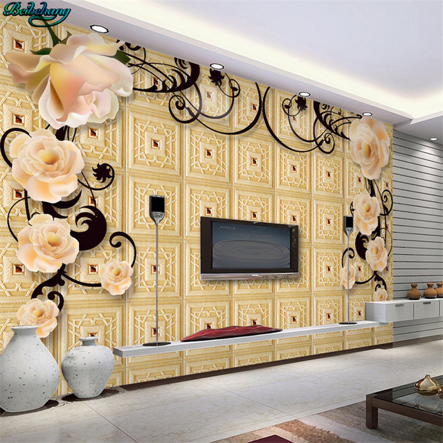 Beibehang Large Custom Wallpapers High End European Style Simple Living Room Tv Sofa Wall