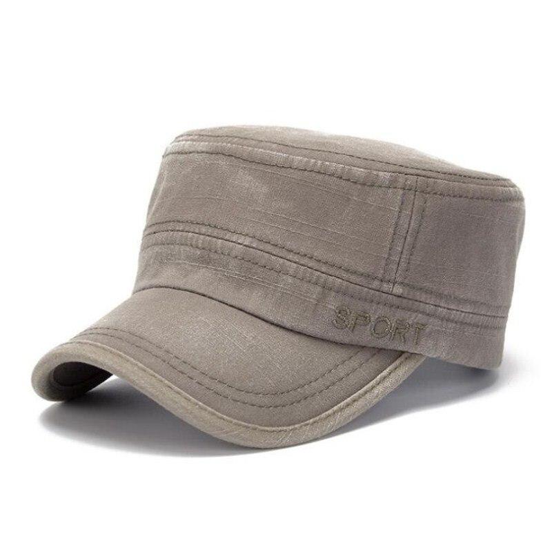 Stetig Seioum Klassische Unisex Männer Frauen Militär Hüte Flache Top Kappe Visier Hut Sommer Herbst Frühling Qualität Stickerei Bekleidung Zubehör