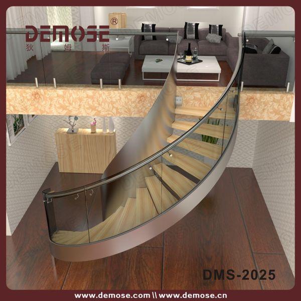 Precio barato de vidrio de acero inoxidable escalera de for Escalera exterior de acero galvanizado precio
