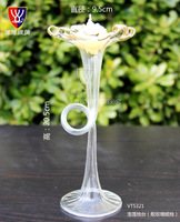1 x Patent Brand Luxury Creative Glass Candlestick + Gift Box Handmade Candle Holder Home Wedding Decoration Accessories