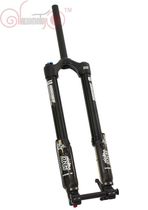 Бесплатная доставка ConhisMotor электровелосипедов передняя вилка ДНМ УСД-6 гору Электронная пневматическая Подвеска велосипед горные Электрический велосипед части