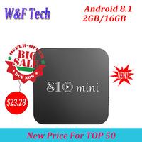 S10 MINI TV BOX Android 8.1 Smart TV BOX 2GB 16GB Amlogic S905W Quad Core 4K Set Top BOX 2.4G WIFI Media Player PK X96 MINI