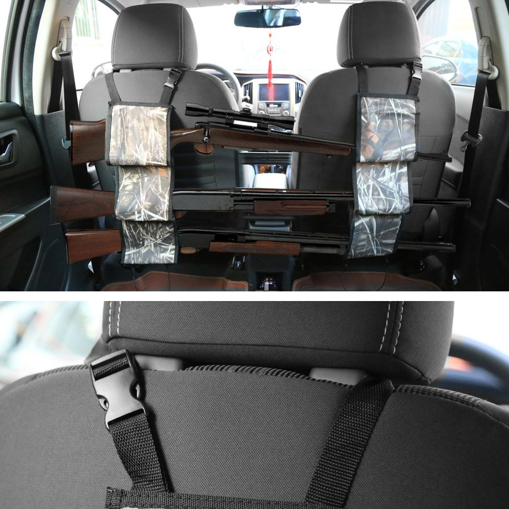 Front Seat Gun Holsters Rack Case Back Rest Pocket Camouflage Hanging Bag Car Shotgun Rifle Truck Sling Bags In From Sports