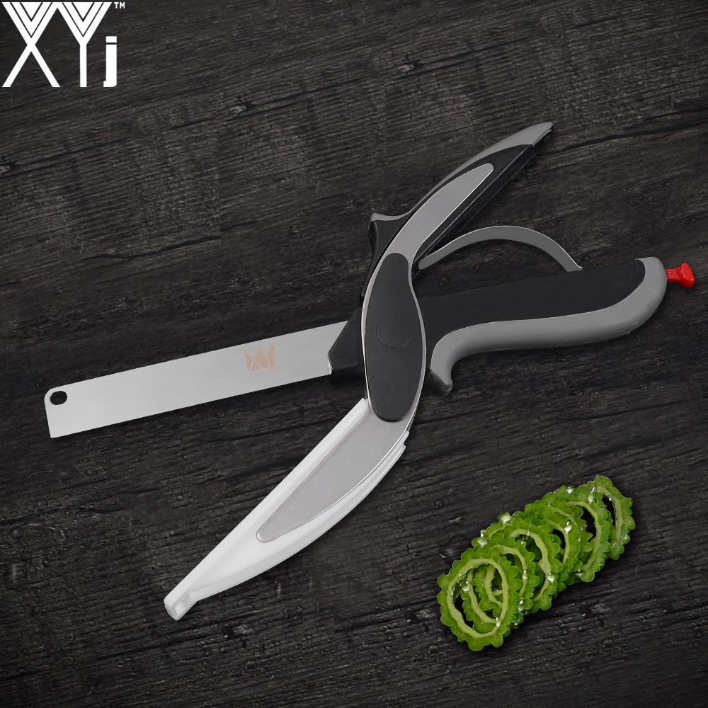 XYj Stainless Steel Kitchen Knife Multi-purpose Vegetable Scissor Daily Home Kitchen Tools Energy Saving Cooking Tools On Sale