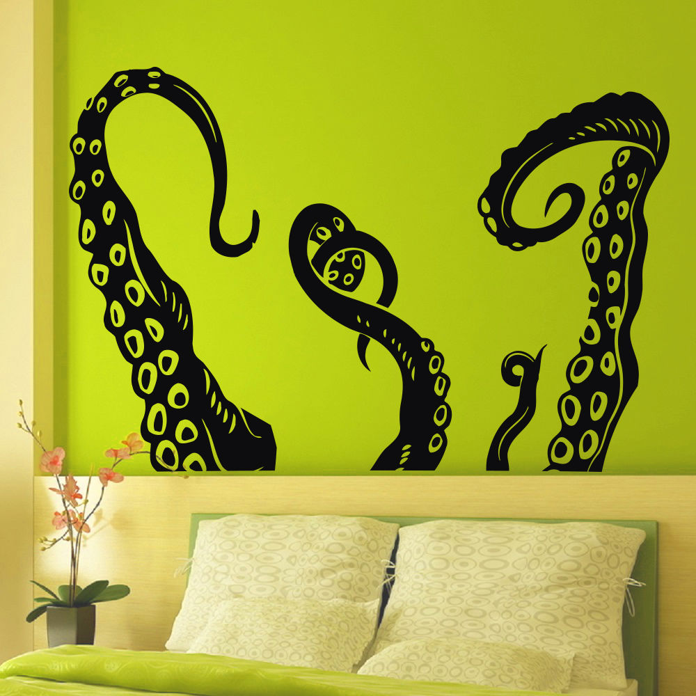 Art Vinyl Wall Decals Octopus Sprut Tentacles Decal Sticker Art ...