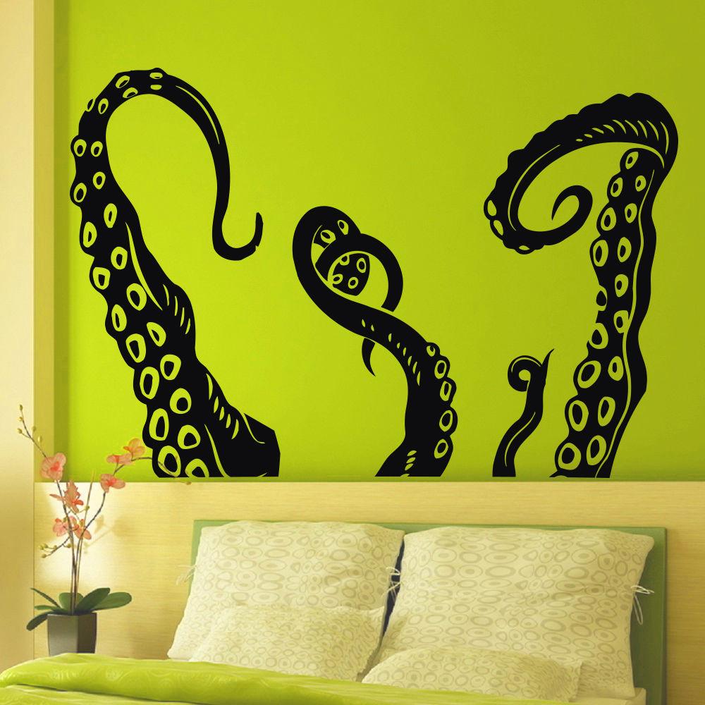 ᗖArt Vinyl Wall Decals Octopus Sprut Tentacles Decal Sticker Art ...