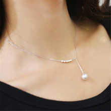 Fashion Pearl Clavicle Chain Pendant Necklace Imitation Pearls Choker Necklace For Women Jewelry Gift Party S4(China)