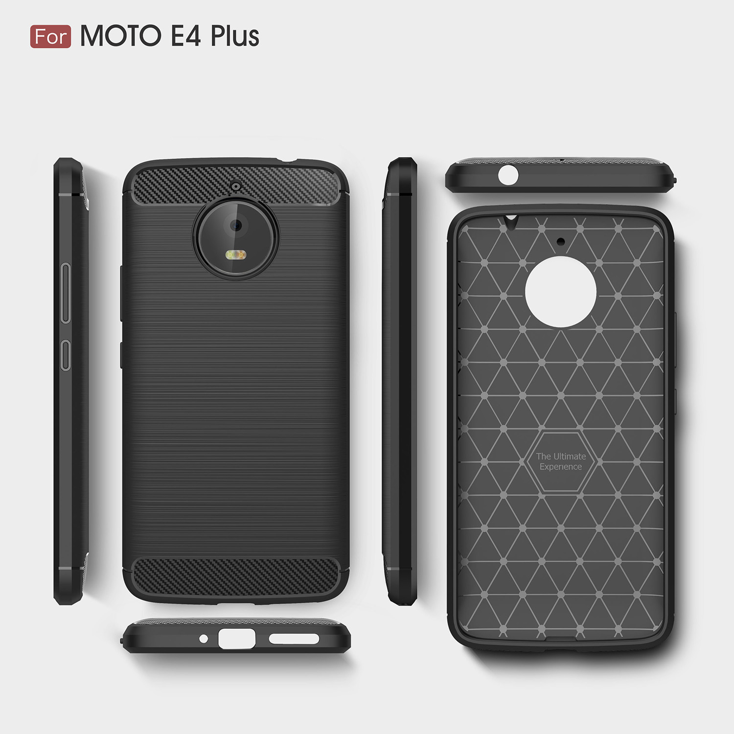 huge selection of c11d9 be7d8 US $4.36 9% OFF|Case for Motorola moto E4 Plus (Europe) XT1770 XT1773 XT  1770 1773 phone Cover for moto E 4plus black Pure color phone housing-in ...
