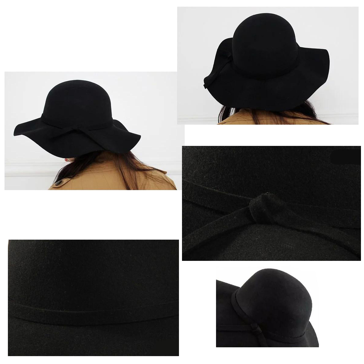 f263075cc0498e 2017 NEW Stylish Kids Girls Wide Brim Retro Felt Bowler Floppy Cap Cloche  Hat black-in Hats & Caps from Mother & Kids on Aliexpress.com | Alibaba  Group