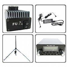 5 шт. 30 Вт PC Управление fm-передатчик: 30 Вт FM Усилитель+ PC Управление fm exicter+ GP антенна+ разъемы кабеля+ адаптер питания комплект