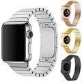 Pulseira de aço inoxidável para a apple watch strap 38mm homens de black metal de luxo pulseira link 42mm para iwatch