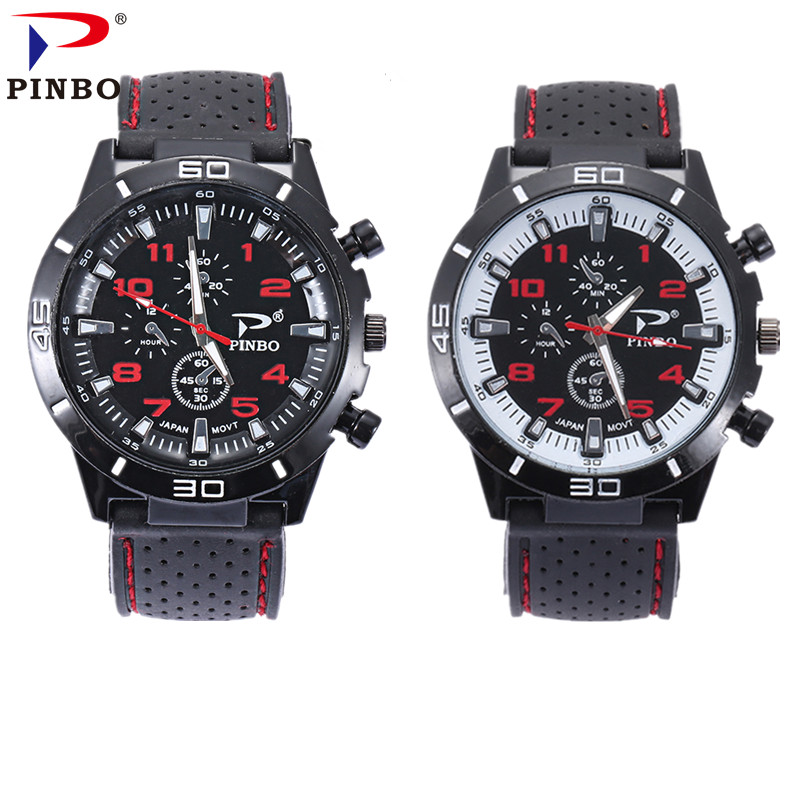49643f2c2b3d8 Best price PINBO Casual Quartz watch men Women military Watch sport  Wristwatch Dropship Silicone Clock Fashion