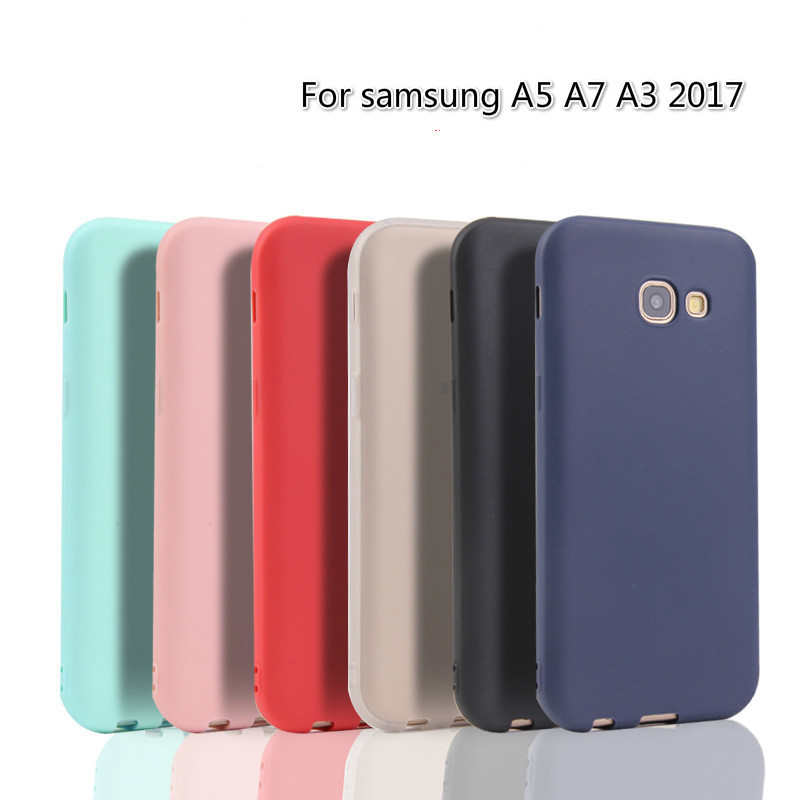 Xindiman Solid color cover case for samsungS7 S7edge S8 S8plus J510 J710 silicone TPU phone back A3 A5 A7 A8 2018