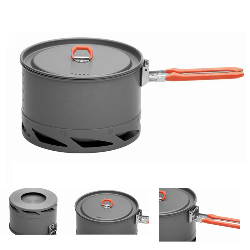 ФОТО Fire Maple Heat Exchanger Camping Pot Outdoor Cookware Cooking Pot 1.5L/1L FMC-K2/FMC-XK6