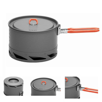 2012 New Arrive Heat Exchanger Camping Pot Outdoor Cookware Cooking Pot 1 5L FMC K2