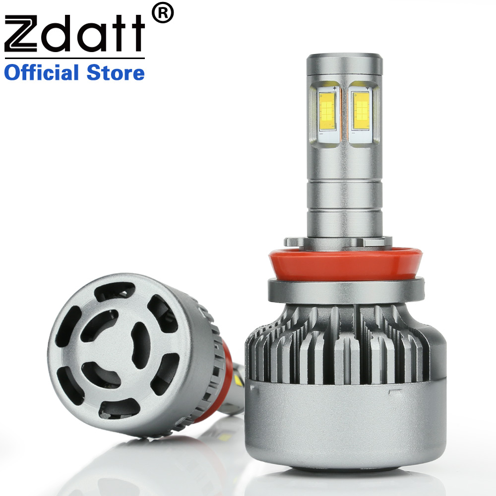 Zdatt 360 Degree Lighting Hight Power LED Light Auto CSC Led H11 Led Bulb 100W 12000LM Headlight Fog Lamp