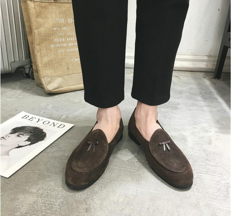 As Business Mocassin Slip Pic Printemps Robe as Casual Nre Rond Pic on Formelle Appartements Chaussures Homme Bout De Hommes Mocassins Patchwork vYgf6b7y