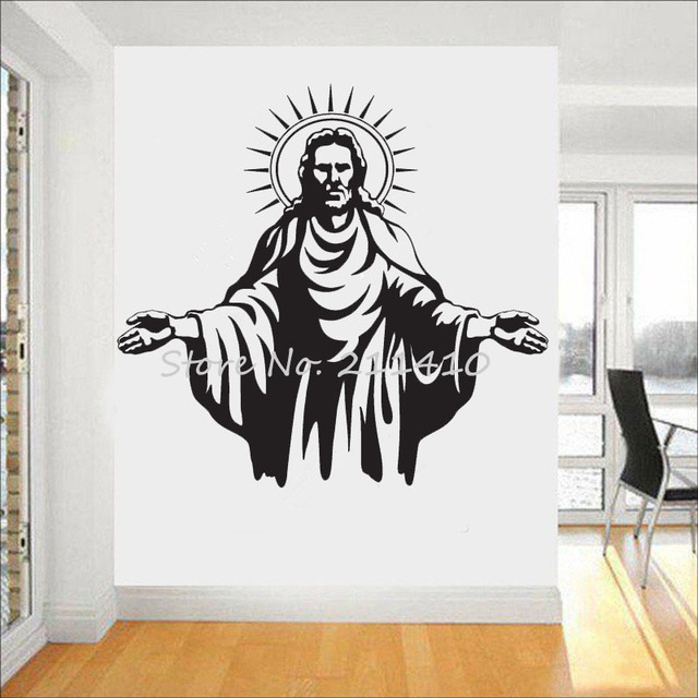 3d poster wall decal of jesus christ classic god wall stickers home