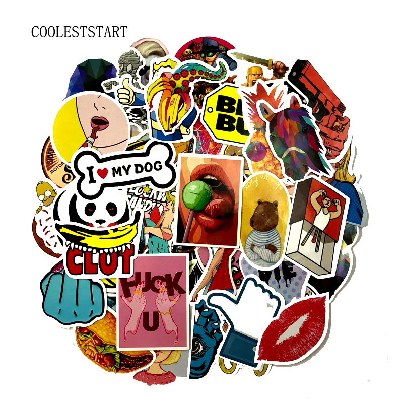 900pcs Wholesale Funny Fashion Cool Skateboard Laptop Stickers Luggage Veneer Refrigerator Phone Toy Shape Vinyl Decals Gift