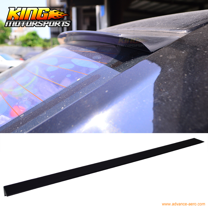 For 09 10 11 12 Acura TSX CU2 4Dr VRS Style Roof Spoiler Unpainted Black - PUF for 09 10 11 mazda 6 2nd vrs style roof spoiler wing unpainted puf