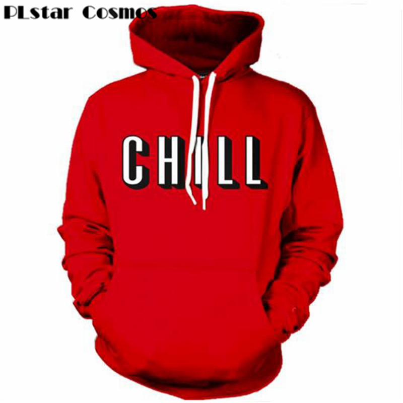PLstar Cosmos brand Netflix and Chill 3D All Over Printed Hoodies Pockets Sweatshirt Hipster Street Wear