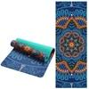 6 MM Lotus Pattern Suede TPE Yoga Mat Pad Non slip Slimming Exercise Fitness Gymnastics