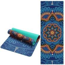 6 MM Lotus motif daim TPE tapis de Yoga antidérapant minceur exercice Fitness tapis de gymnastique musculation Esterilla Pilates