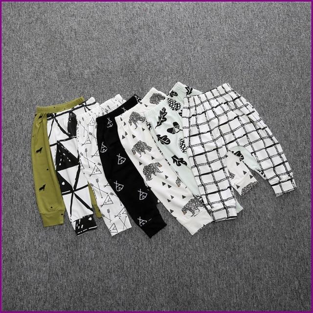0-4A Enfants Mode Automne Bébé Flèche Panda Harem Pantalon Garçons Filles 100% Coton Leggings Pantalon de Garçon Vêtements