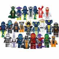 24PCS 31035 Super Heroes Lloyd ASCHE Master Ungeziefer Sensei Wu Die Wei Schlange Ziegel Spielzeug Für Kinder Kompatibel Legoe