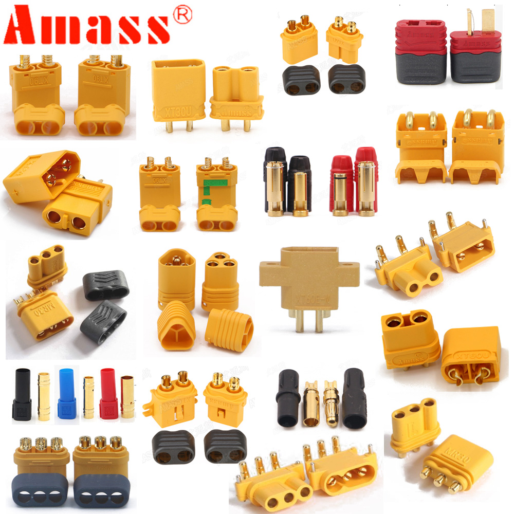 10 X Amass XT60+ XT30U XT60U XT90 XT90-S MR60 MR30 XT60PW XT90PW XT30PW AS150 XT150 XT60-P MR30PB MT30 MT60 Connector (5 Pair )