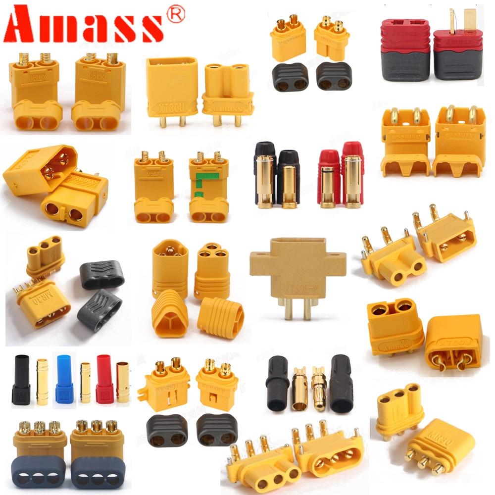 10 x Amass XT60+ XT30U XT60U XT90 XT90-S MR60 MR30 XT60PW XT90PW XT30PW AS150 XT150 XT60-P MR30PB MT30 MT60 Connector (5 Pair )(China)