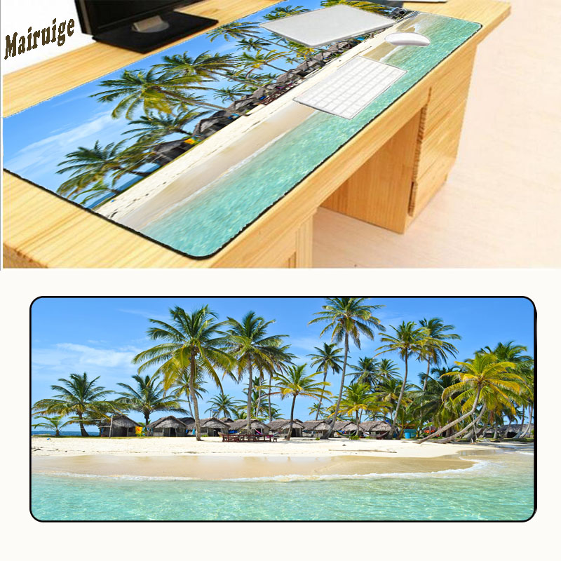 Mairuige Print Locking Edge Rubber Mousepads for Beach and Starfish Mice Mat DIY Design Pattern Computer Gaming Cloud Mouse Pad