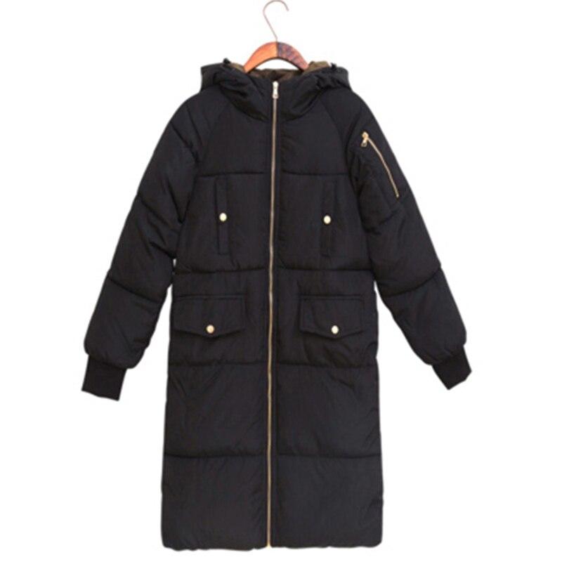 Winter Coat Women Plus Size 3XL 2017 New Long   Parkas   Female Winter Hooded Coat Loose Jacket Women Outwear Thick   Parkas   RE0020