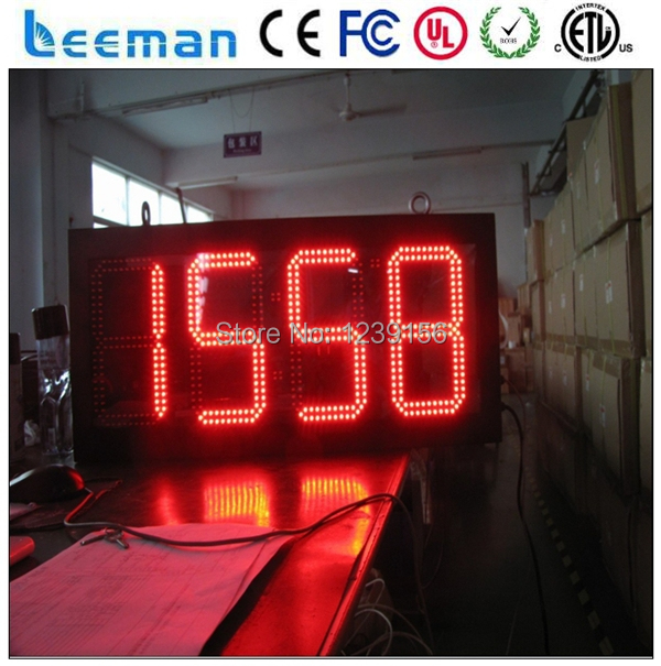 "10"" Outdoor High-brightness 7 Segment LED Display for LED Scoreboard ,LED clock,LED Price display board time"