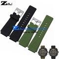 Силиконовой Резины браслет 30 мм ремешок ремешок для часов водонепроницаемый черный зеленый мягкие и удобные мужские наручные часы группа ремень