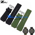 Silicone Rubber bracelet 30mm watch strap watchband waterproof black green soft and comfortable men's wristwatches band belt
