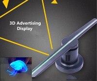 3D логотип проектор Реклама Дисплей 20 Вт вентилятор голографическая перемещение головы светлый праздник украшения светодио дный двери свет
