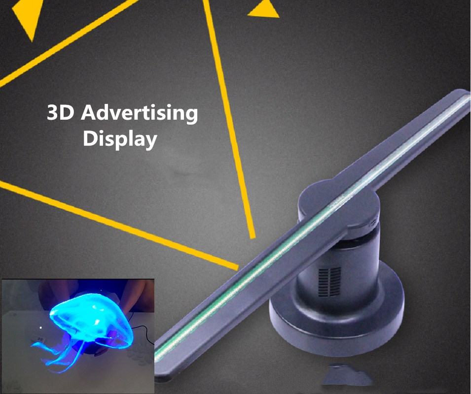3D Logo Proiettore Pubblicità Display 20 w Fan Olografica In Movimento Testa Decorazione di Festa Della Luce di portello del Led della Lampada Della luce Laser fantasma