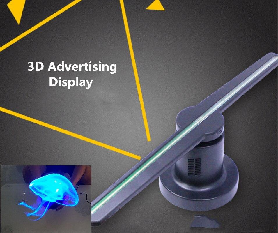 3D Logo projecteur publicité affichage 20 W ventilateur holographique mobile tête lumière vacances décoration Led porte lumière Laser lampe fantôme