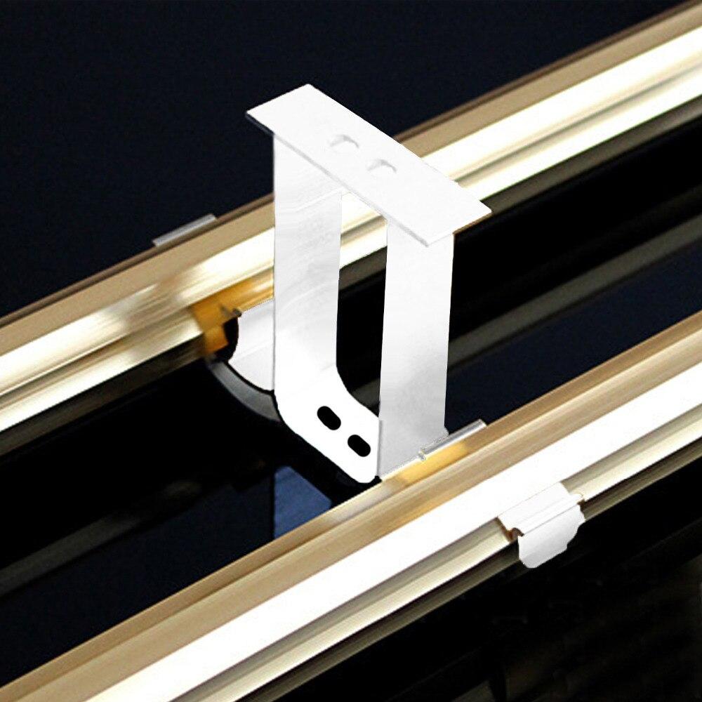 Support Tringle Rideau Plafond €3.02 50% de réduction 2 pièces tringle à rideau rideau pôle plafond monté  double alliage d'aluminium support tringle à rideau accessoires tringle a