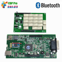 2015.R3/2014.R2 TCS CDP With Free Keygen OBD2 OBD Diagnostic Tool for Cars/Trucks CDP Pro With Green PCB Board Free Shipping